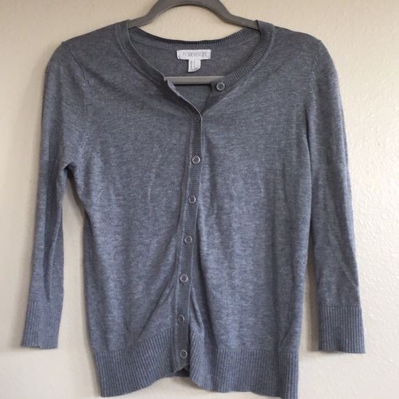 Forever 21 Sweaters - F21 Gray Button Down Cardigan